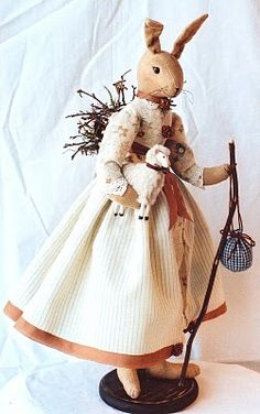 Evi's Country Snippets - Rabbit doll
