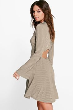 Margret Dipped Open Back Skater Dress Online Shopping Clothes, Skater Dress, Latest Fashion Trends, Cold Shoulder Dress, Dresses, Women, Style, Vestidos, Swag