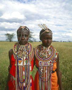 Maasai girls, Kenya