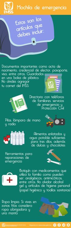 Tips para preparar una mochila de emergencia.
