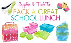 Great lunch box supplies to make lunch back easy and even fun!