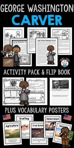 Students will love learning about George Washington Carver, one of America's most famous and influential scientists of all time!  George Washington Carver is considered one of the greatest scientists of all time! He is best known for inventing hundreds of new products from peanuts and sweet potatoes. Many people agree that his biggest achievement was improving the life of farmers everywhere.