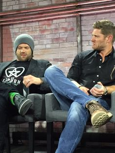 Jensen Ackles & Jared Padalecki at SDCC 2016 --- They look look like they're on Jerry Springer