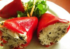 3 recetas faciles de pimientos rellenos Canapes, Meatloaf, Deli, Mashed Potatoes, Sandwiches, Ethnic Recipes, Food, Youtube, Vegetarian Stuffed Peppers