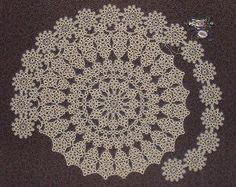 """Tatting theory and patterns"" from the (designed by Jan Stawasz) doily on page…"