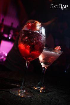 Sky Bar, Alcoholic Drinks, Wine, Glass, Cocktail Menu, Cocktails, Drinkware, Corning Glass, Liquor Drinks