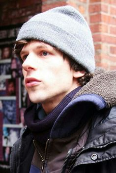 Jesse Eisenberg - i'm not usually a beanie type of person, but sweet lord is he beautiful here.