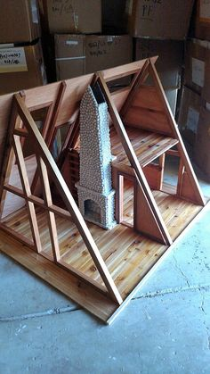 Cabin project scale A Frame Cabin project Ayfraym DIY Cabin scale A Frame Cabin project. Tiny House Cabin, Tiny House Design, Cabin Homes, Hut House, Small Log Cabin, A Frame House Plans, Tiny House Plans, Cabin House Plans, Cabins In The Woods