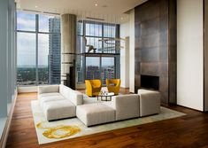 Penthouse in Residences at W Austin; Allison Burke  designed the space for Michael Hsu Office of Architecture.