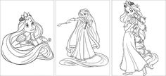 Free Rapunzel or Tangled Coloring pages. Fun activity for party-coloring!