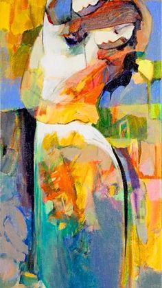 Emotional Embrace by Hessam Modern Art, Contemporary Art, People Art, Fine Art Gallery, Portrait Art, Figure Painting, Figurative Art, Love Art, Watercolor Art