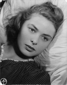 "The beautiful Ingrid Bergman in ""June Nights""."