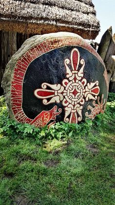 Runenstein @ Centrum Słowian i Wikingów Wolin Jomsborg Vineta. Wolin Festival of Slavs an Vikings 2017