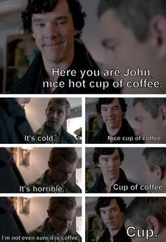 This makes me smile. :) Cabin Pressure + Sherlock = Perfect.