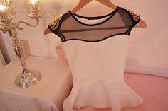 shirt clothes t-shirt top white peplum top blouse