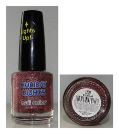 Holiday Lights Nail Color Light Pink Glitter