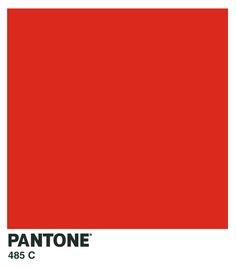 SWATCH: pantone 485c - red