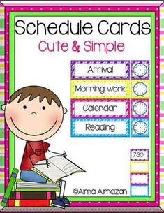 Schedule Cards to keep you on track! :)