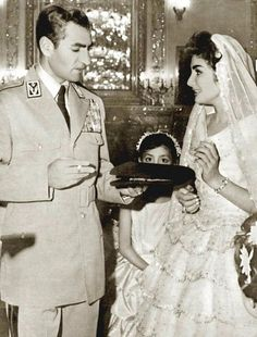 HIH Princess Shahnaz Pahlavi with her father, HIH The Shah of Iran.