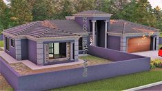 4 Bedroom House Plan – My Building Plans South Africa Round House Plans, Tuscan House Plans, Square House Plans, Metal House Plans, Free House Plans, French Country House Plans, Modern House Plans, 5 Bedroom House Plans, Porch House Plans