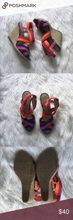 Amazing Enzo Angiolini Colorful Wedges Brand new condition! No flaws at all. NO TRADES PLEASE Enzo Angiolini Shoes Wedges