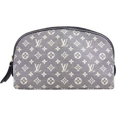 Pre-Owned  Louis Vuitton Cosmetic Pouch in Blue Idylle ($350) ❤ liked on Polyvore featuring beauty products, beauty accessories, bags & cases, blue idylle and louis vuitton
