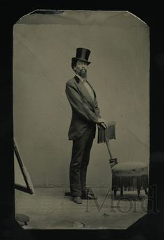 1860s Tintype of a gentleman - even his posture is elegant. For sale on ebay