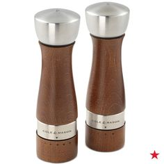 Add style to your table and gourmet  air to your food with this Cole & Mason Olbury walnut-stained salt and pepper mill set. Its precise grinding makes it so easy to adjust from fine to coarse. Shop now!