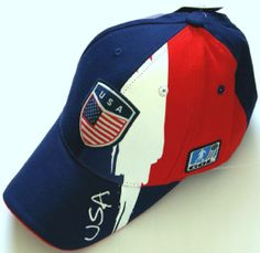 World Cup Soccer Team USA ADULT FASHION SOCCER CAP RED-BLUE COLOR