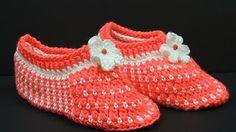 Vlněné pantofle. Tkanina s dvěma jehlami # 164 - YouTube
