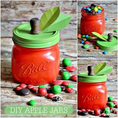 Apple filled with m&m's ... Love!!