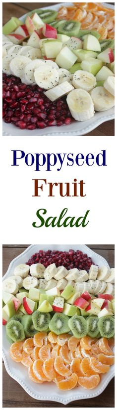 Try this super easy Poppyseed Fruit Salad for a side dish that is pretty, healthy and delicious!