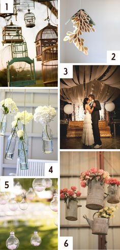 Hanging wedding decor and inspiration