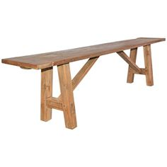 Rustic Indoor or Outdoor Teak Bench