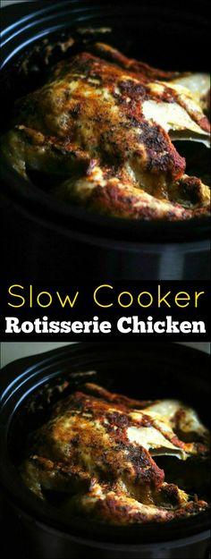 Slow Cooker Rotisserie Chicken | Aunt Bee's Recipes