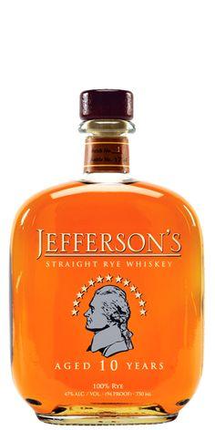 Jefferson's 10 Year Old Straight Rye Whiskey - Flaviar