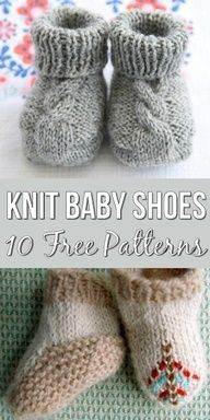 10 Free Knitting Patterns For Baby Shoes - The Most Adorable Baby Booties!