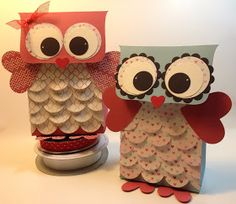 Owl Valentine's Day gift bags! They are extremely adorable.