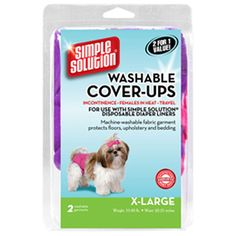Simple Solution Washable Diaper Cover-Ups, X-Large, 'Colors May Vary', Pink/Purple or Blue/Black, 2 Pack ** You can find more details by visiting the image link. (This is an affiliate link and I receive a commission for the sales)
