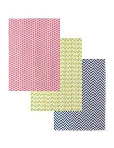 3 Pack Tropical Geometric Print Tea Towels