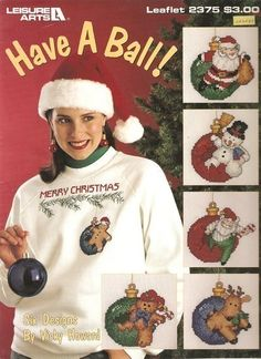 Leisure Arts Have A Ball Christmas Cross Stitch Patterns