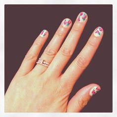 My nail art. Tutorial by Bubzbeauty on YouTube.
