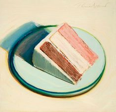 Ideas Pop Art Food Wayne Thiebaud For 2019 Wayne Thiebaud Cakes, Wayne Thiebaud Paintings, Pop Art Artists, Food Artists, Famous Artists, Pop Art Food, Food Art Painting, Cake Painting, Famous Art Paintings