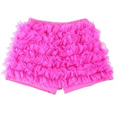 Wennikids Baby Girl Kids Chiffon Ruffle Shorts Petti Short Pants 19t in Various Colors 89T Dark Pink *** Check out this great product.