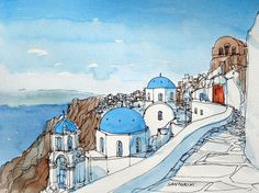 Santorini by Andre Vogy