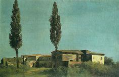 At the villa Farnèse : two poplars (À la villa Farnèse : les deux peupliers) - Pierre-Henri de Valenciennes