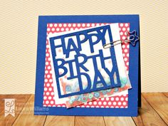 Card by Laura Williams, featuring Boxed Up Birthday die, for Lil' Inker Designs April Release Blog Hop {Day 1}