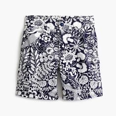 Boys' snap-front board short in mermaid floral
