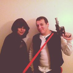 Pin for Later: 21 Star Wars Costumes For Couples Strong With the Force Darth Vader and Han Solo