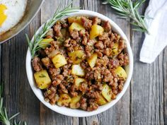 Spicy Rosemary Sausage and Potato Breakfast Hash - My Heart Beets